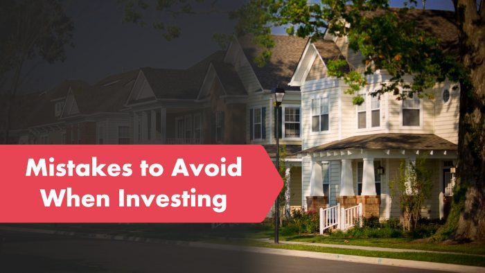 Mistakes to Avoid When Investing